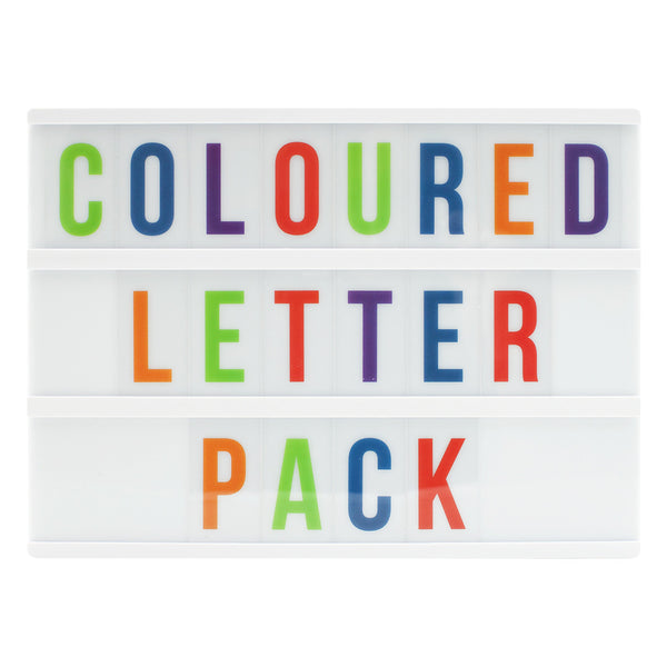 Colourful Extra Letters & Symbols For A4 Lightbox