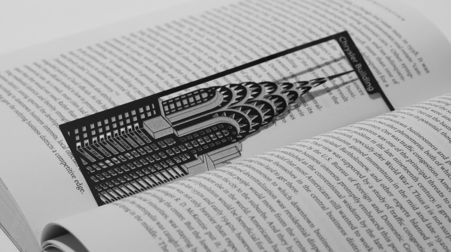 Chrysler Building - Stainless Steel Bookmark - Locomocean