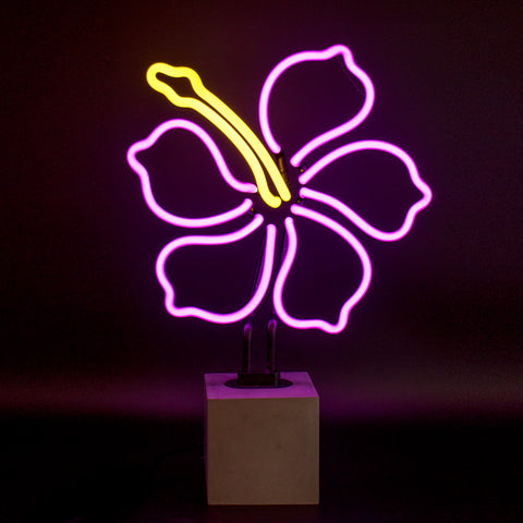 Neon Hibiscus Sign