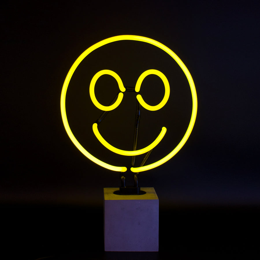 Neon Smiley Sign - Locomocean