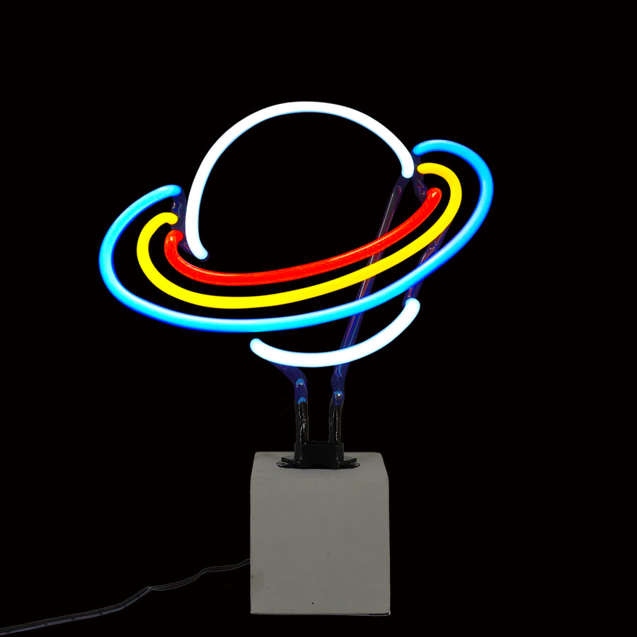 Neon Saturn Sign - Locomocean