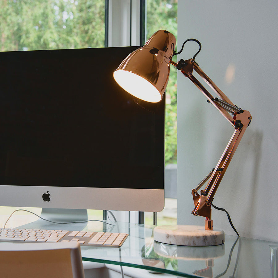 Elgin Desk Lamp - Rose Gold - Locomocean