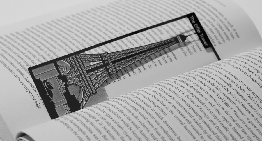 Eiffel Tower - Stainless Steel Bookmark - Locomocean Ltd