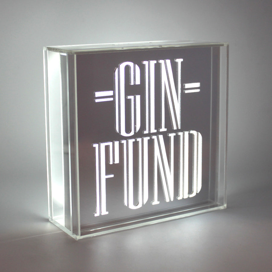 Acrylic Box LED Money Box - Gin Fund - Locomocean