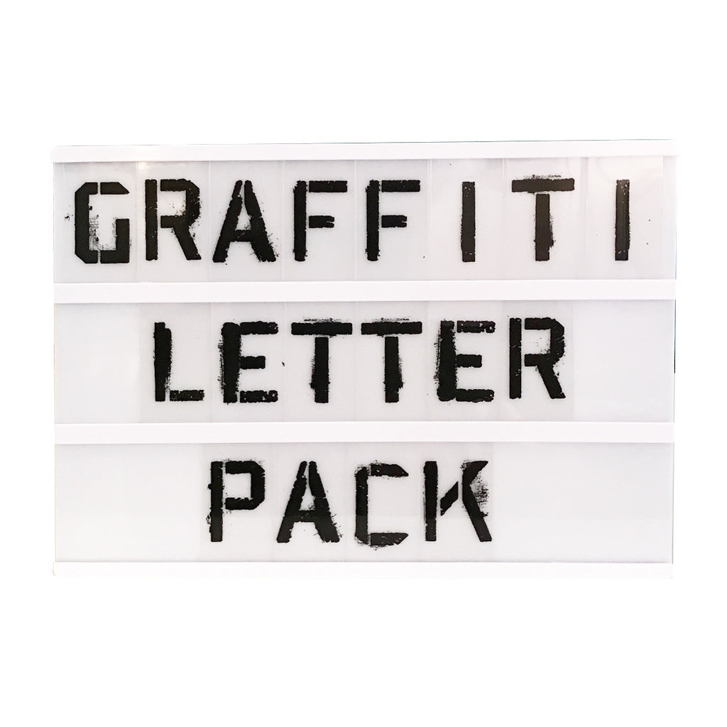 Spray Paint Stencil Letter Pack For A4 Lightbox