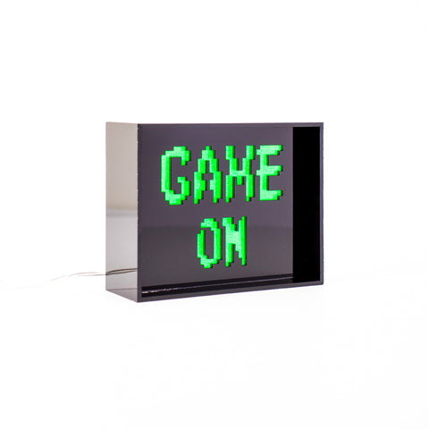 'Game On' LED Acrylic Box