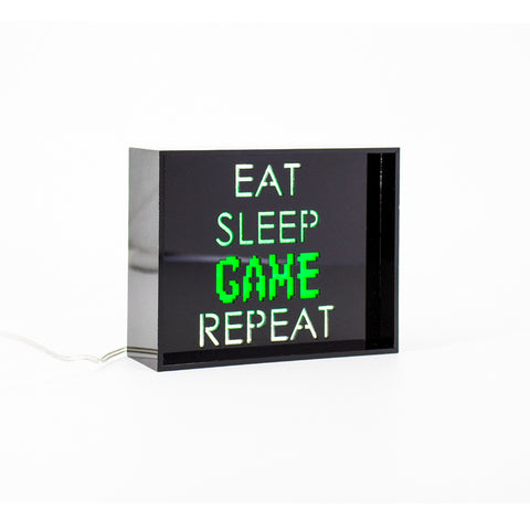 'Game Repeat' LED Acrylic Box