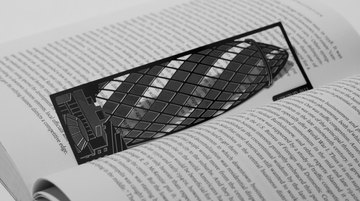 The Gherkin - Stainless Steel Bookmark - Locomocean