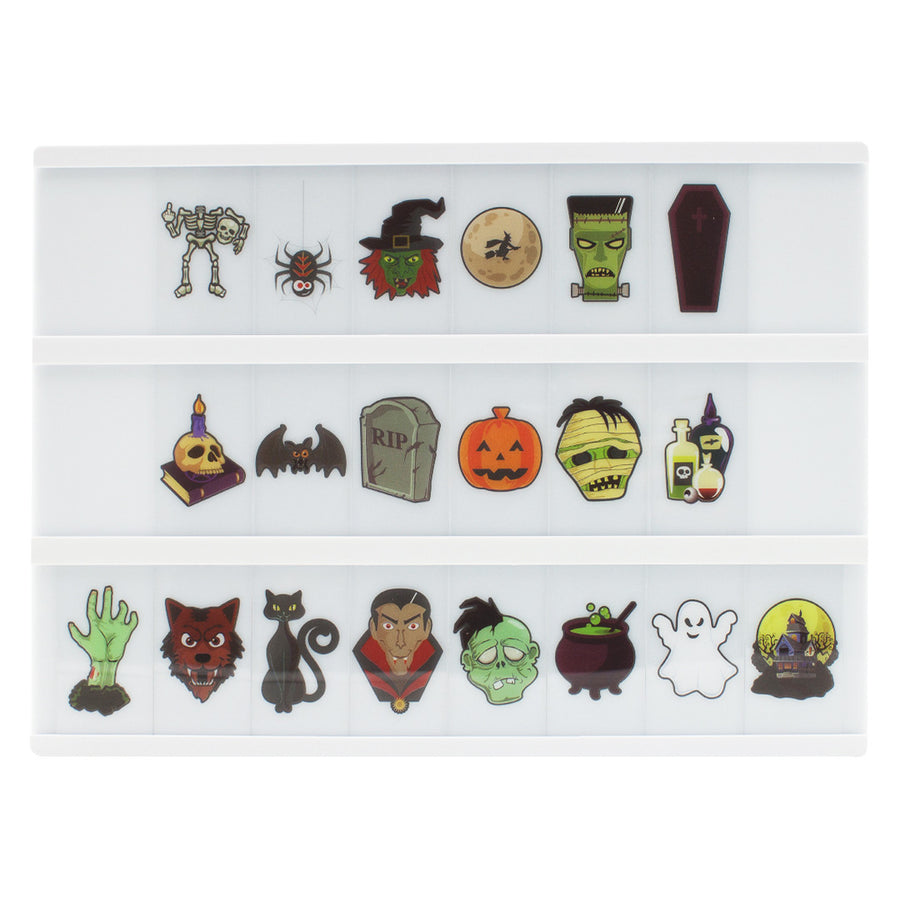Halloween Letter Pack For A4 lightbox - Locomocean Ltd
