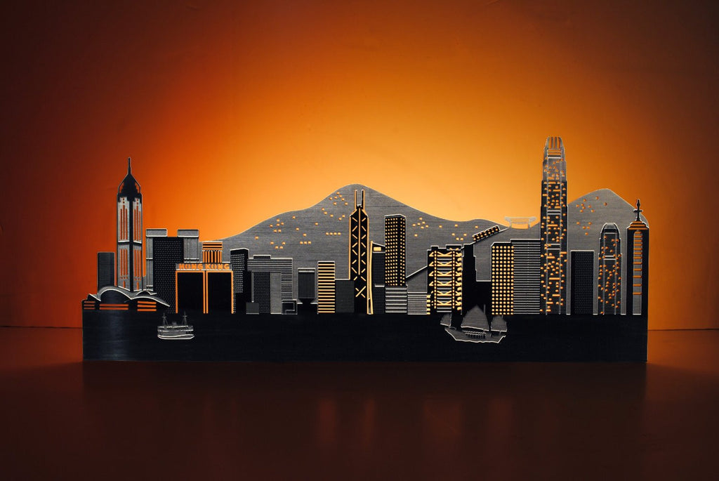 Light-Up Hong Kong Skyline