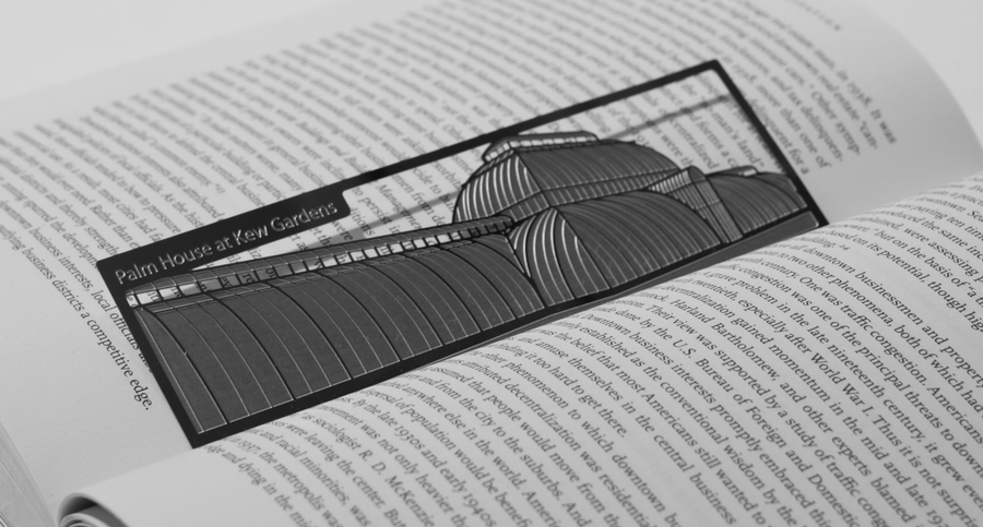 Palm House - Stainless Steel Bookmark - Locomocean