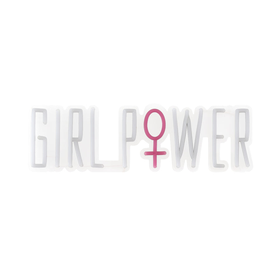 'Girl Power' Warm White Neon LED Wall Mountable Sign