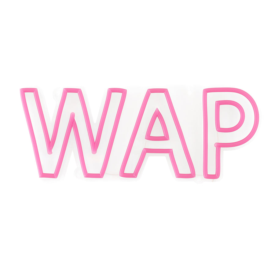 'WAP' Pink Neon LED Wall Mounted Sign