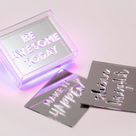 Purple - Mini Acrylic Box LED