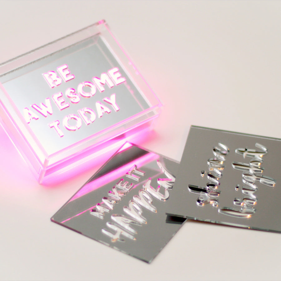 Pink - Mini Acrylic Box LED - Locomocean