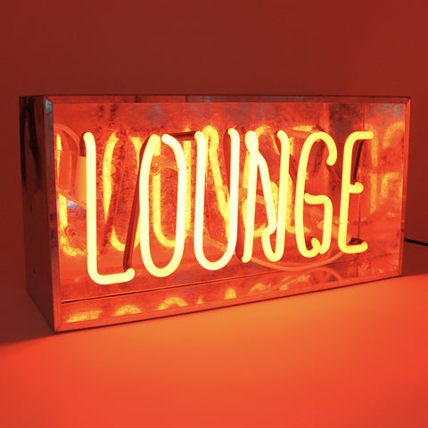 'Lounge' Metal Box Neon