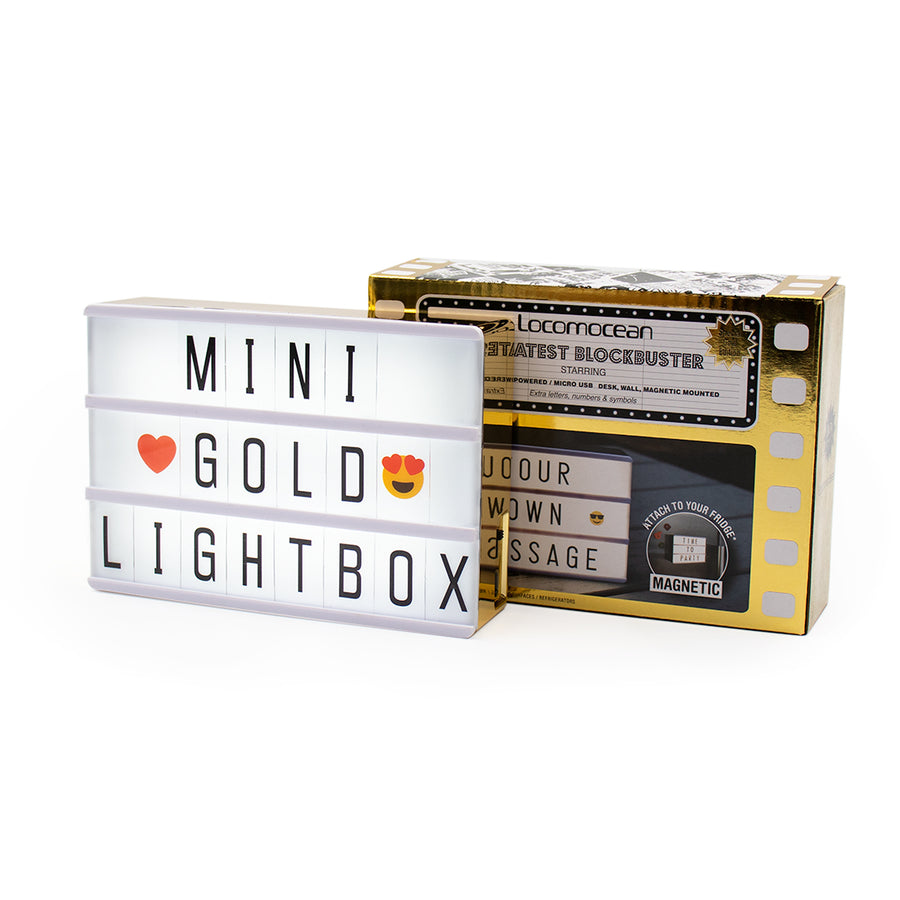 A6 Magnetic Lightbox - Gold - Locomocean Ltd
