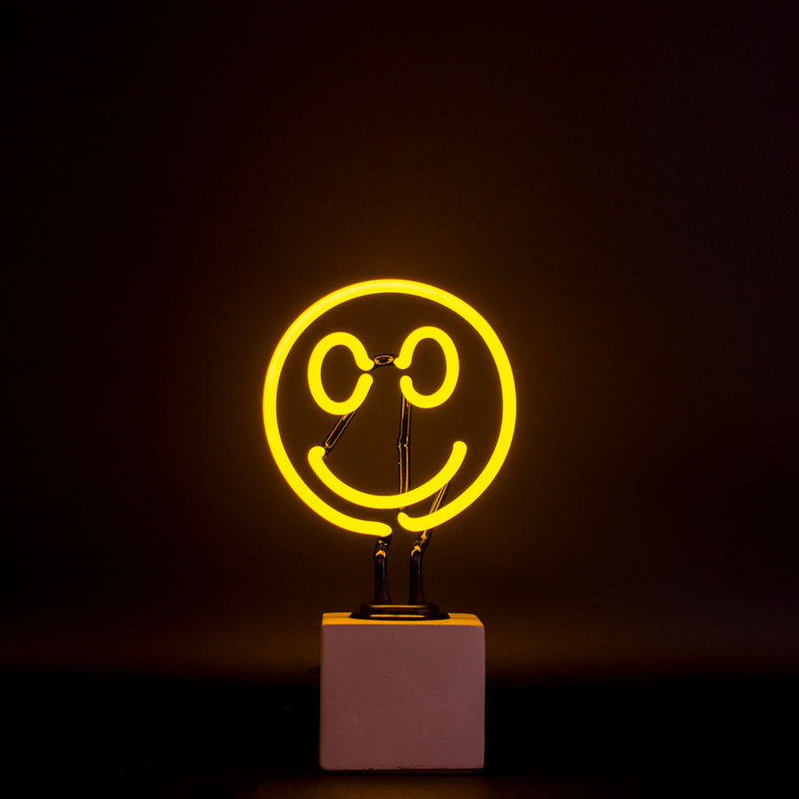 Mini Neon Smiley Sign - Locomocean Ltd