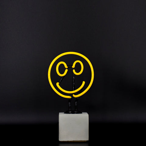 Mini Neon Smiley Sign