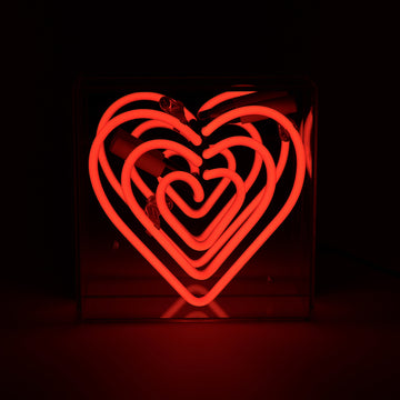 'Heart' Mini Acrylic Box Neon Light - Locomocean