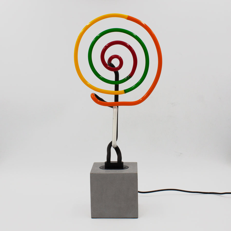 Neon 'Lollipop Swirl' Sign - Locomocean