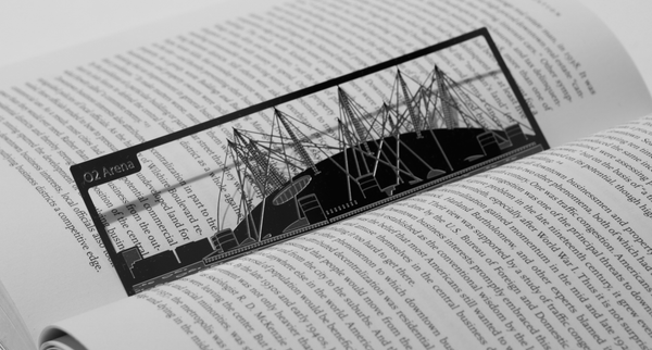 O2 Arena - Stainless Steel Bookmark