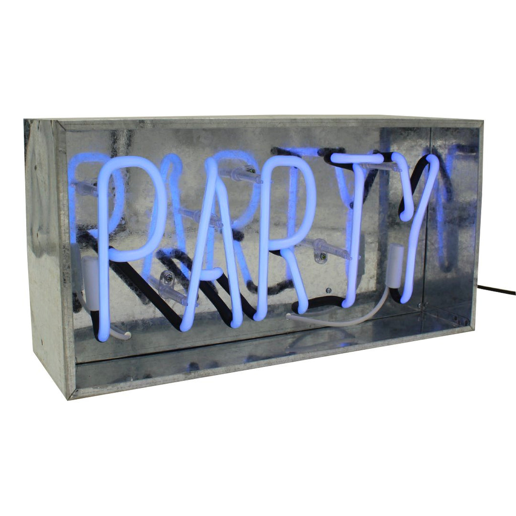 'Party' Metal Box Neon