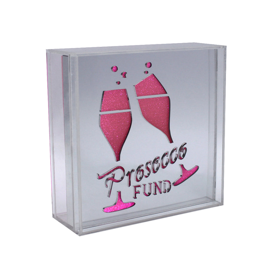 Acrylic Box LED Money Box - Prosecco Fund - Locomocean