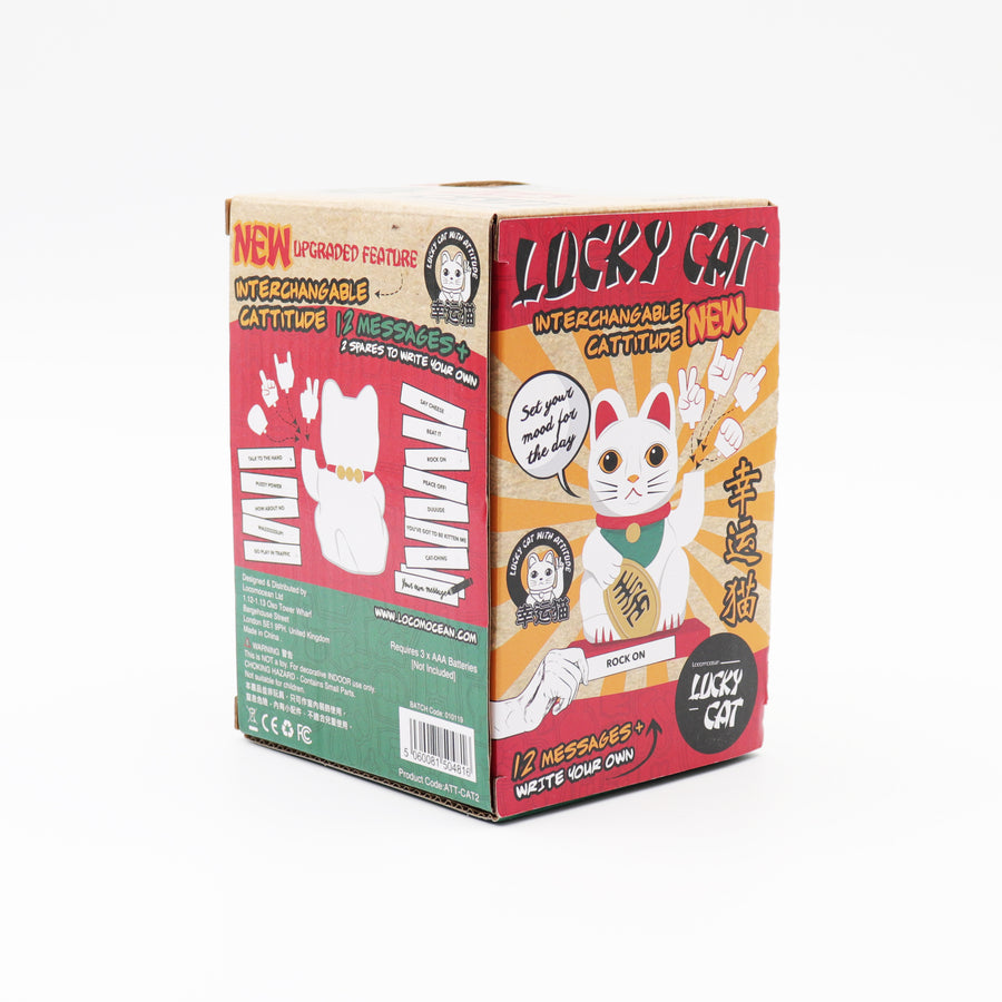 Cattitude - Lucky Cat with Interchangeable Hands