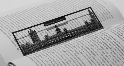 Houses of Parliament - Stainless Steel Bookmark