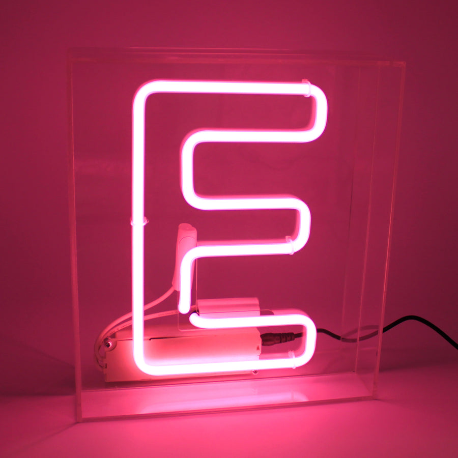 Acrylic Box Neon Light - Letter Pink (A-Z) - Locomocean