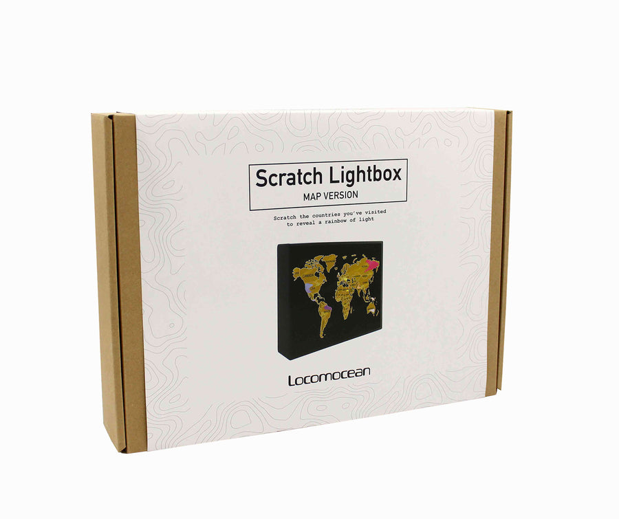 Scratch Lightbox - Map Version - Locomocean