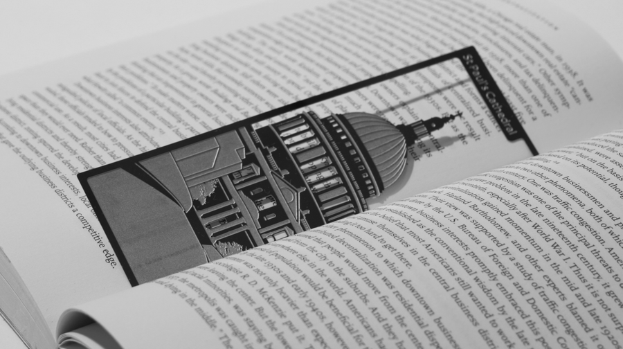 St. Paul's Cathedral - Stainless Steel Bookmark - Locomocean