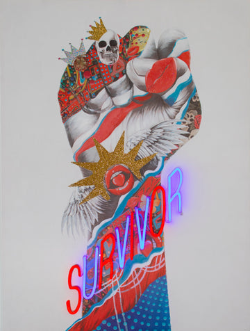 'Survivor' Wall Artwork - LED Neon - Locomocean