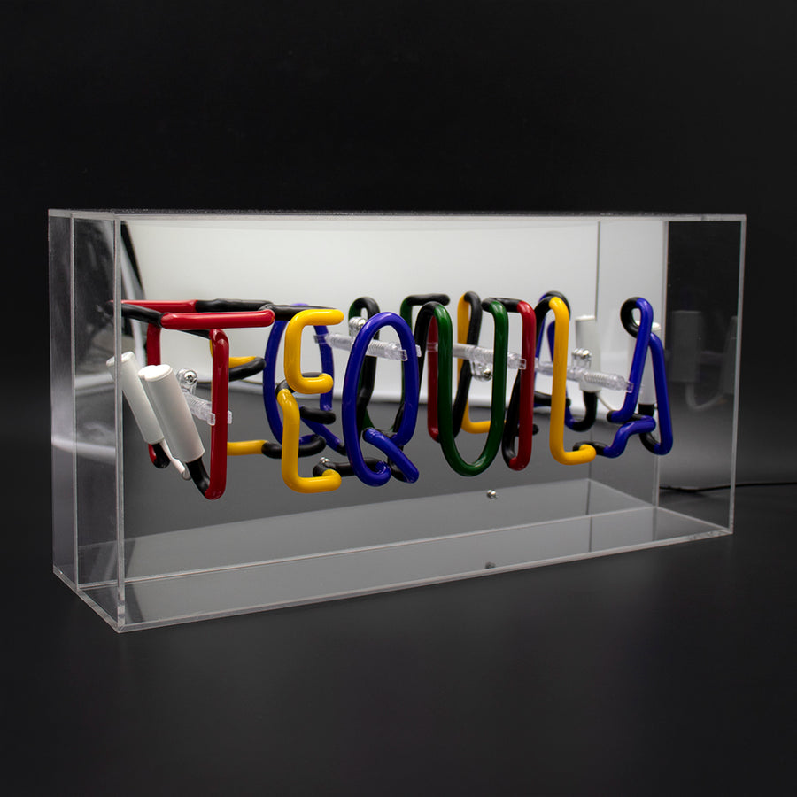 'Tequila' Acrylic Box Neon Light - Locomocean