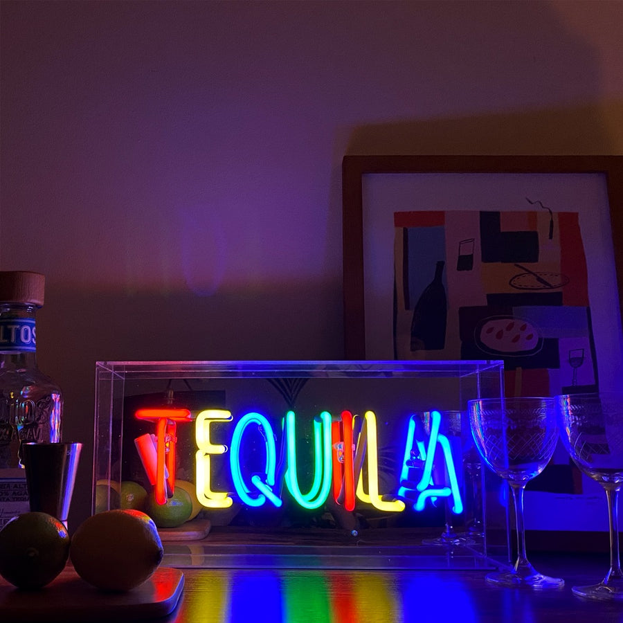 'Tequila' Acrylic Box Neon Light - Locomocean Ltd