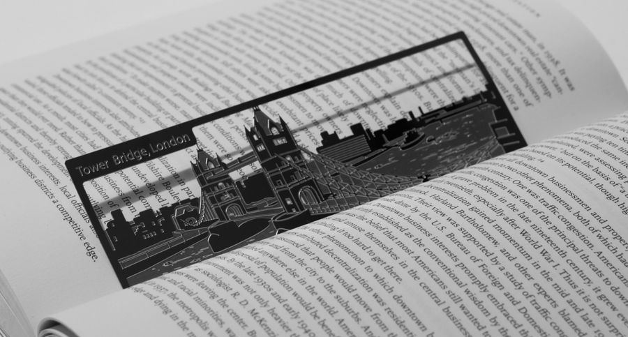 Tower Bridge - Stainless Steel Bookmark - Locomocean