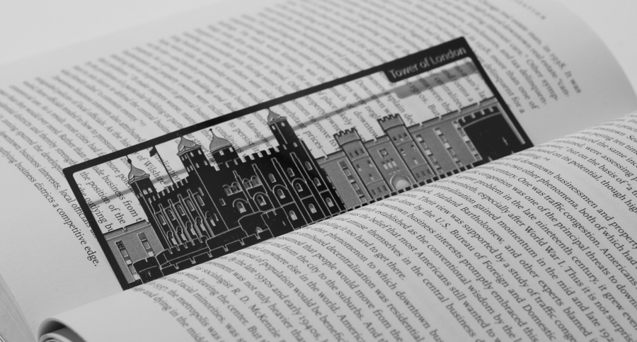 Tower Of London - Stainless Steel Bookmark - Locomocean