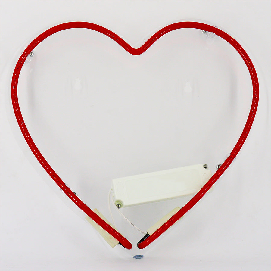 Neon Light 'Heart' Wall Sign - Locomocean