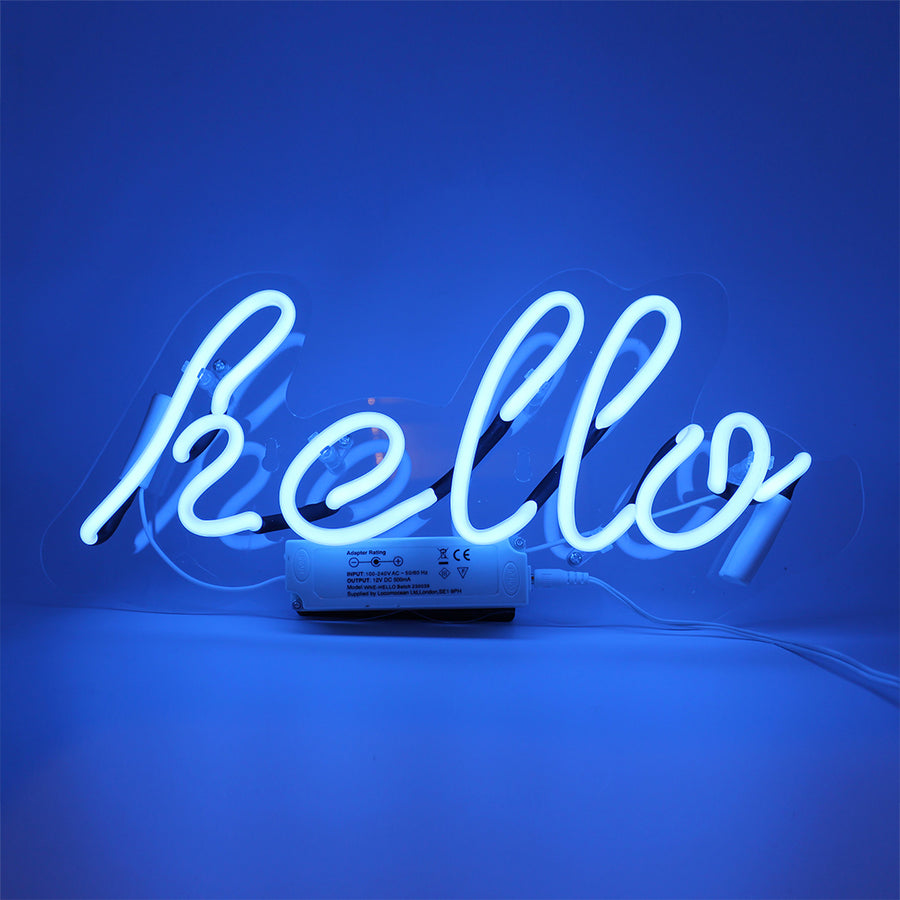 Neon Light 'Hello' Wall Sign - Locomocean Ltd