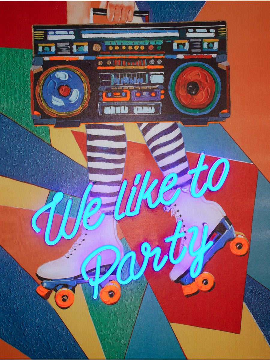 'We Like to Party' Wall Artwork - LED Neon - Locomocean