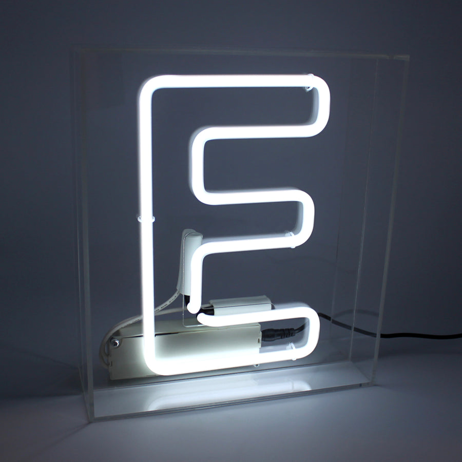 Acrylic Box Neon Light - Letter White (A-Z) - Locomocean