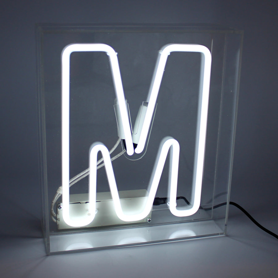 *NEW* Acrylic Box Neon Light - Letter White (A-Z) - Locomocean