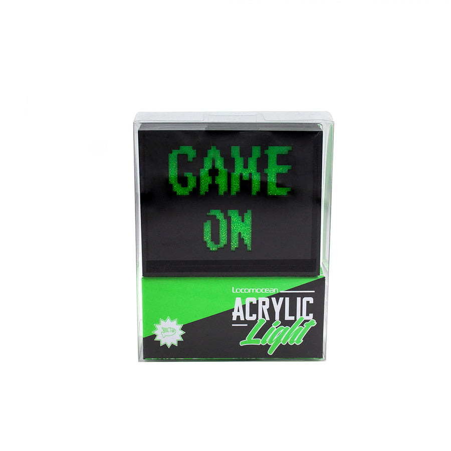 'Game On' Mini Acrylic Box LED - Locomocean