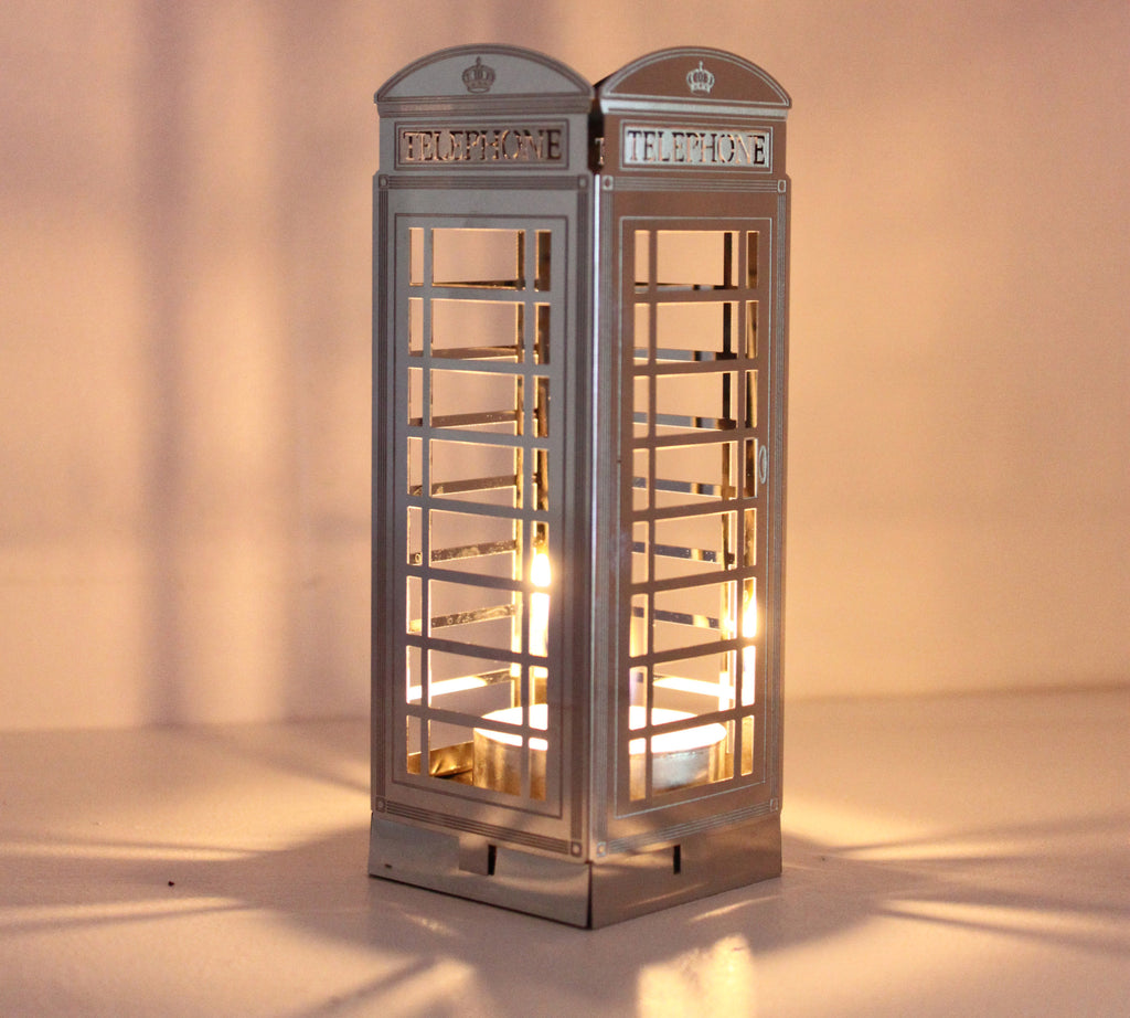 Telephone Box Tea Light Holder