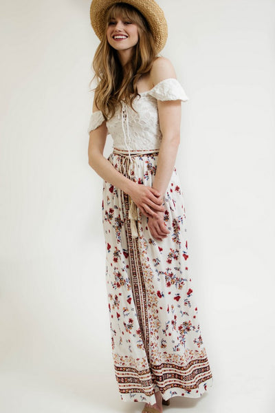 Ellie and June California Moonrise Tasseled Maxi Skirt