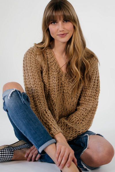 Ellie & June California Moonrise Chunky Knit Sweater