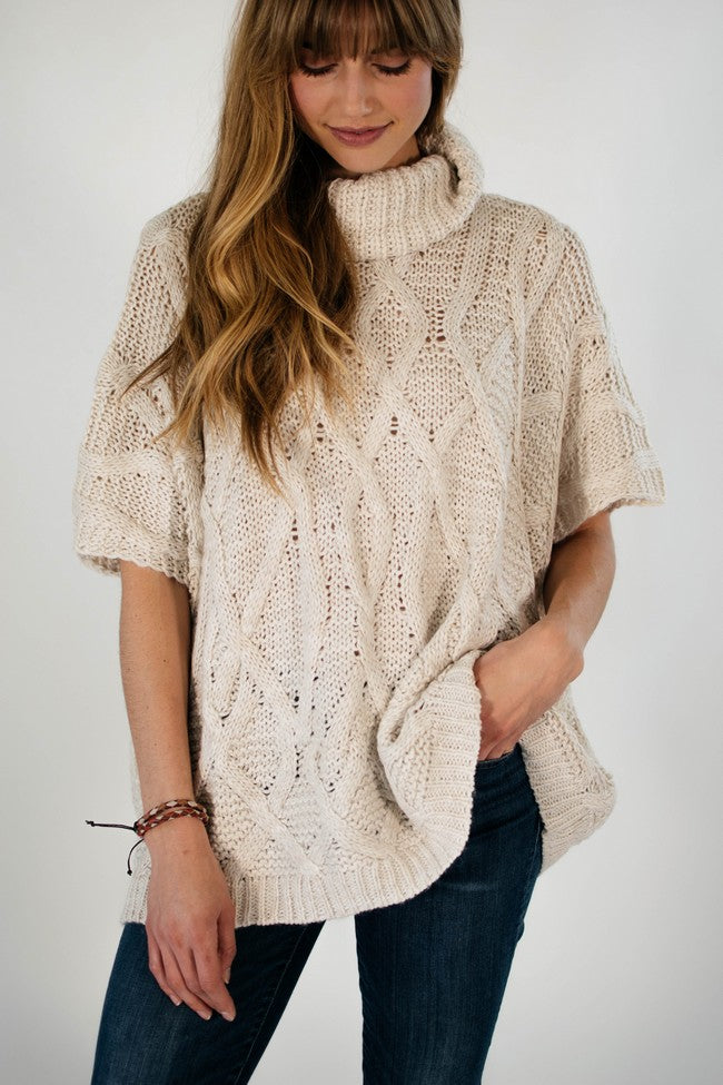 Ellie & June California Moonrise Short Sleeve Poncho
