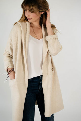 Hooded Mini Coat (Cream)