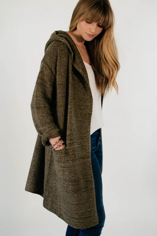 Hooded Mini Coat (Olive)